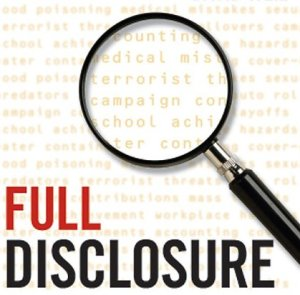 THE FULL DISCLOSURE ISSUE 1