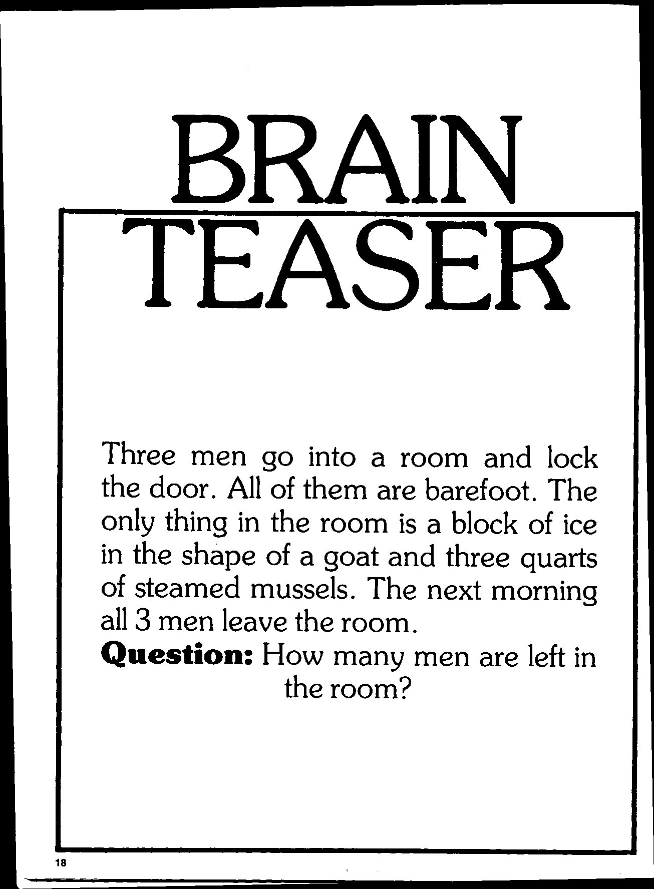 BRAIN TEASER- AND MIND FIELD | Fasttrack