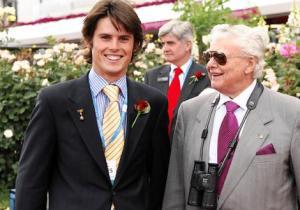 Bart Cummings and grandson James Cummings.