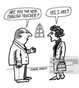 'Are you the new English teacher?' 'Yes I are!'