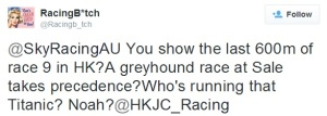 FROM THE RACING TWITTERVERSE 3