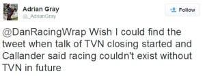 Racing twitterverse 6
