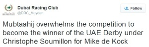 From The Dubai World Cup Twitterverse 1
