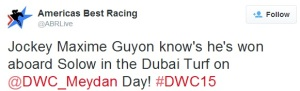 From The Dubai World Cup Twitterverse 15a