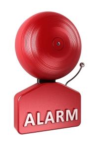 Alarm Bell over white