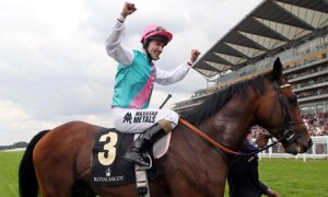 Frankel and Tom Queally at Royal Ascot 2012