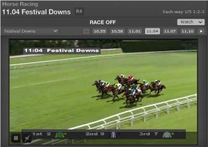Streaming of horse racing