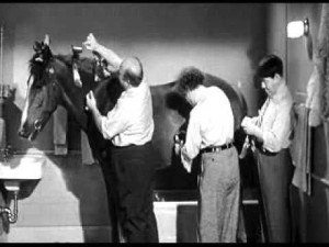 Tony the Wonder Horse and the Three Stooges
